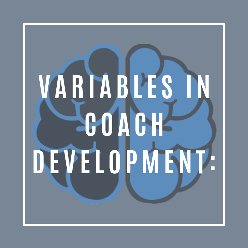 The Four Stages of Coach Development